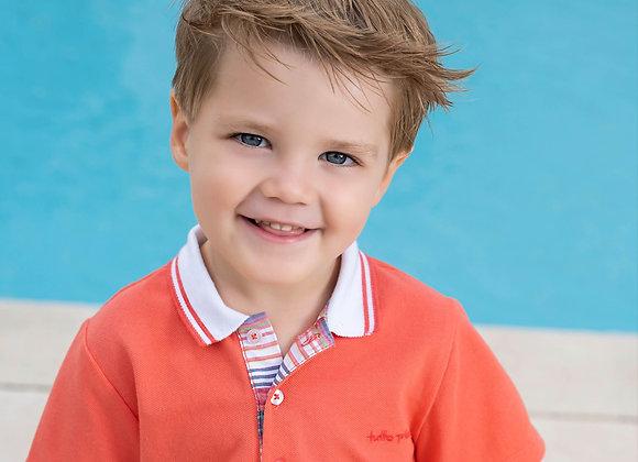 Boys Tutto Piccolo Coral T-Shirt