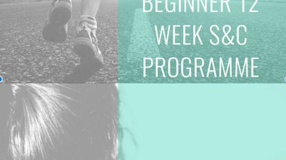 RL Performance 12 Weeks S&C Plan