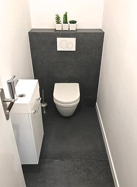 Toilettes suspendues après travaux