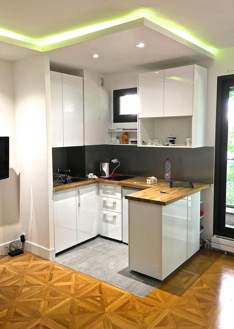 Nouvelle cuisine IKEA dans studio parisien