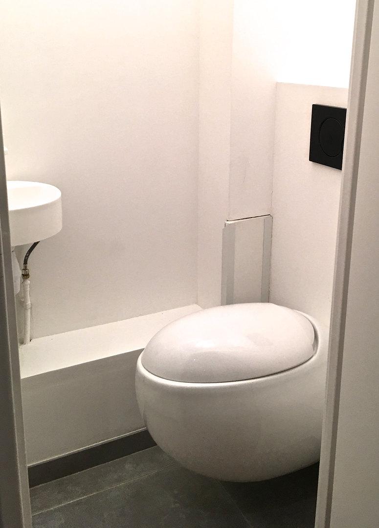 Toilettes oeuf blanche