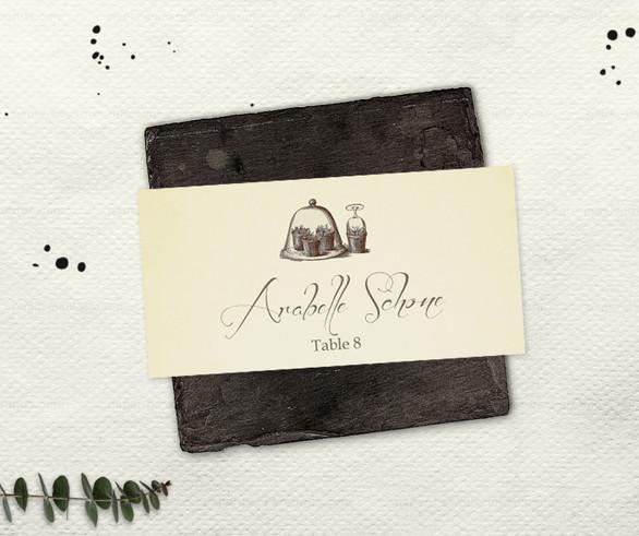 Garden Noire Place Card