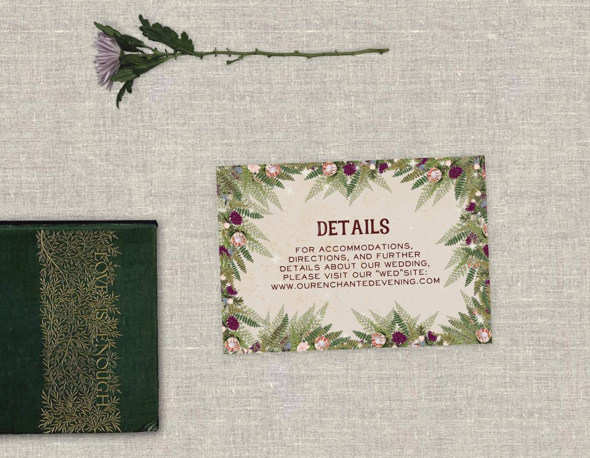 Enchanted Toadstool Enclosure Card
