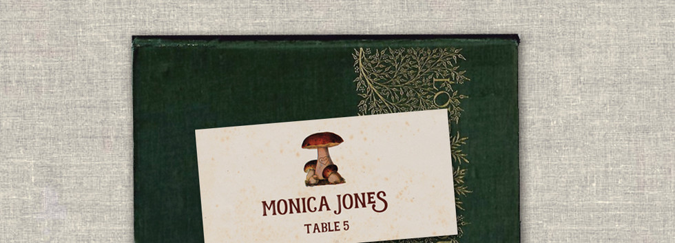 Enchanted Toadstool Place Card