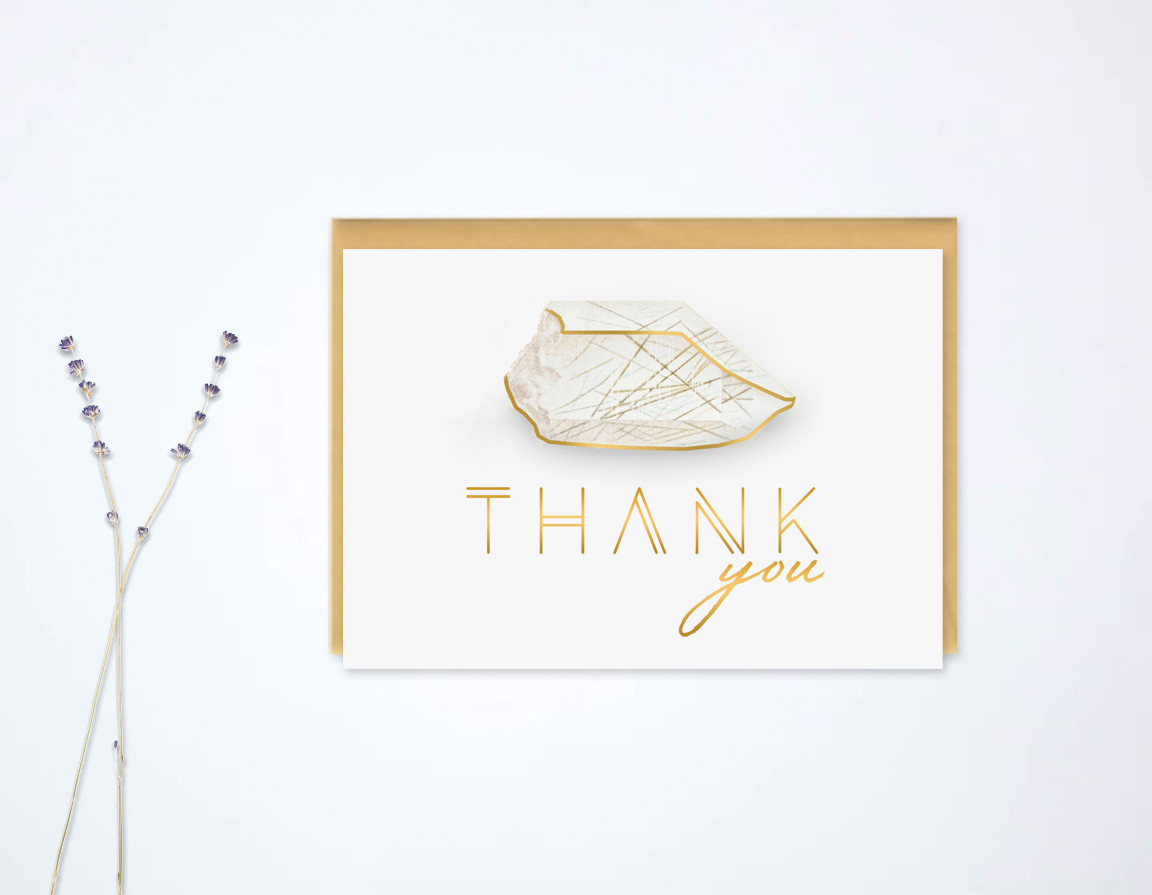 Rock Quarry Thank You Card