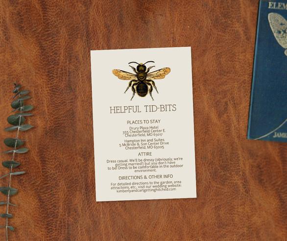 Entomology Enclosure Card