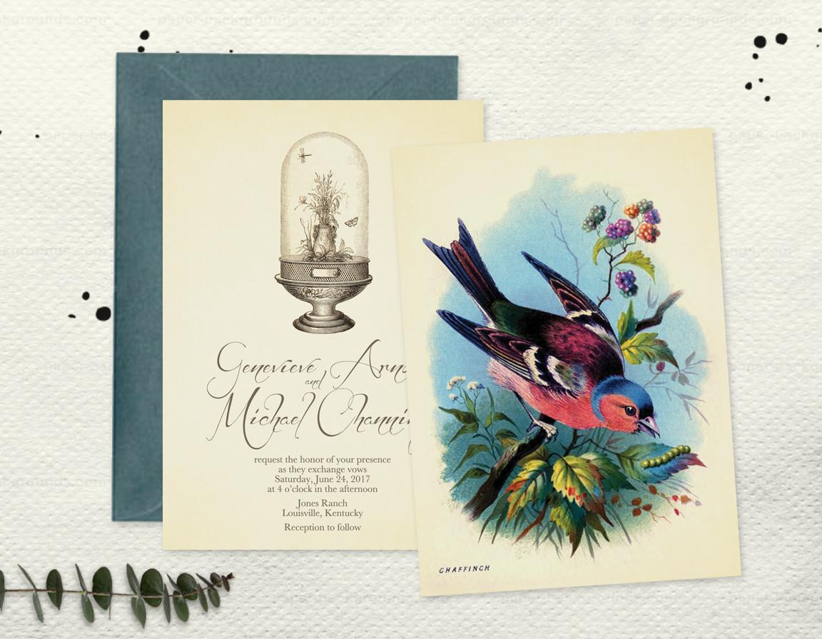 Garden Noire Invitation