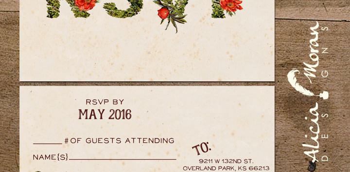 Enchanted Toadstool RSVP Post Card