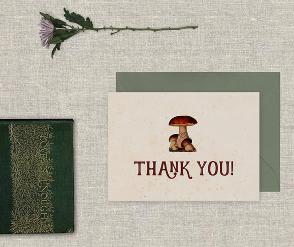 Enchanted Toadstool Thank You Card