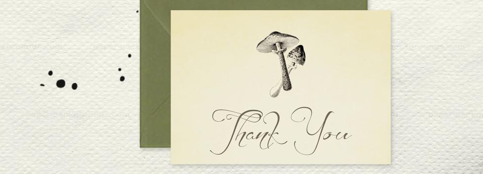 Garden Noire Thank You Card