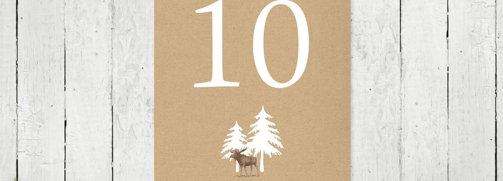 Mountain Retreat Table Number