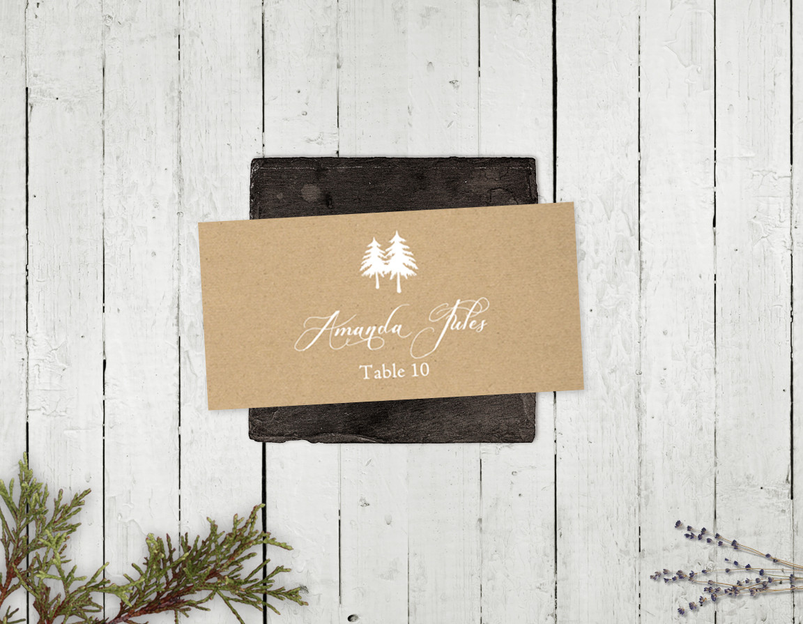 Mountain Retreat Place Card