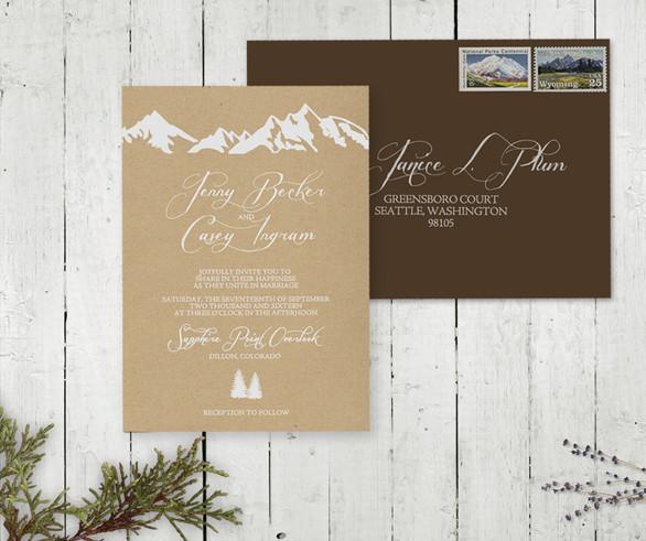 Mountain Reatreat Invitation