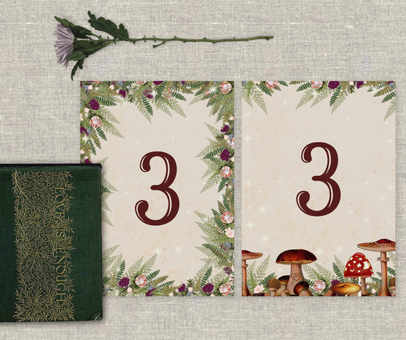 Enchanted Toadstool Table Number