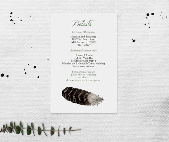 Ornithology Enclosure Card