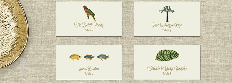 Paradise Place Cards Custom