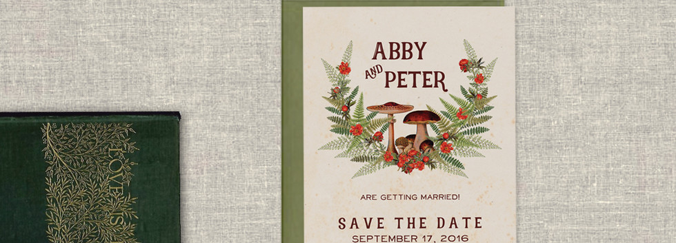 Enchanted Toadstool Save the Date
