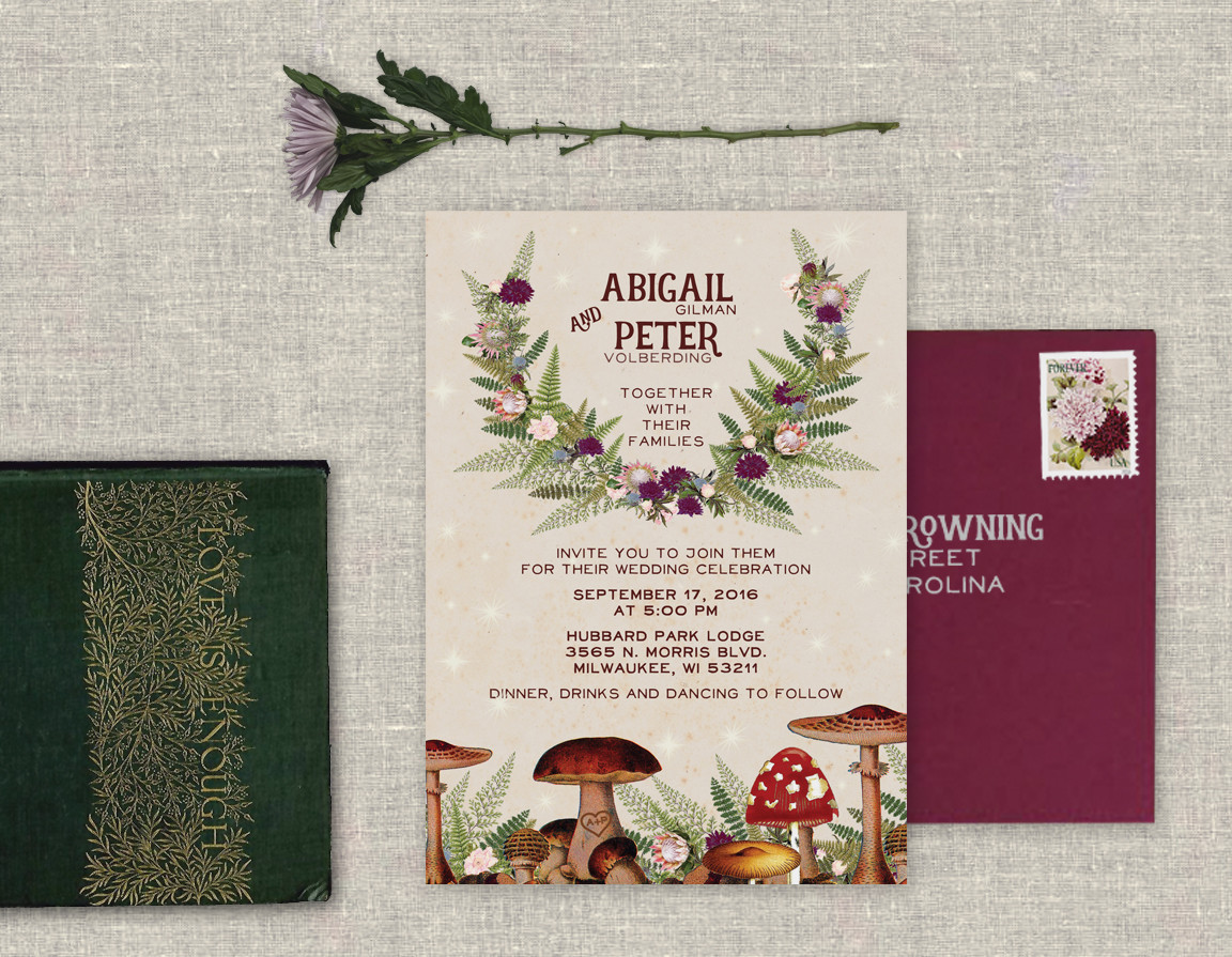 Enchanted Toadstool Invitation