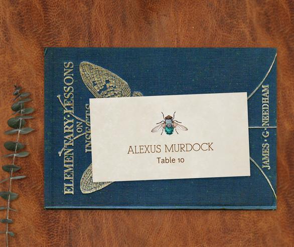 Entomology Place Card