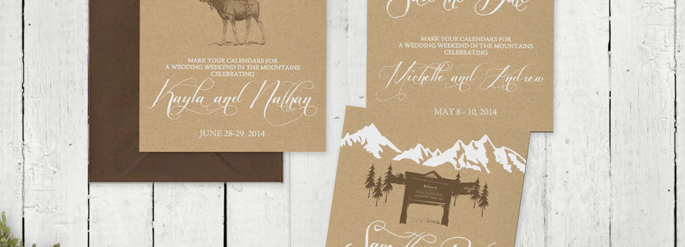 Mountain Retreat Save the Date