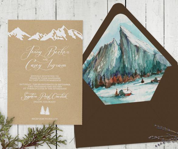 Mountain Retreat Envelope Liner