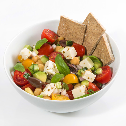 Crudo Greek Salad with Tofu Feta