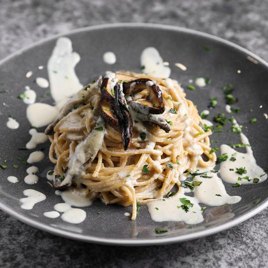 Cashew Truffle Cream Spaghetti
