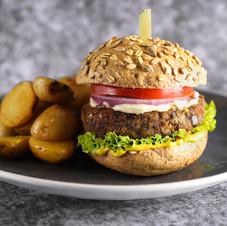 Mushroom and Lentil Burger
