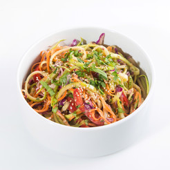 Raw Veggetti with Spicy Almond Sauce
