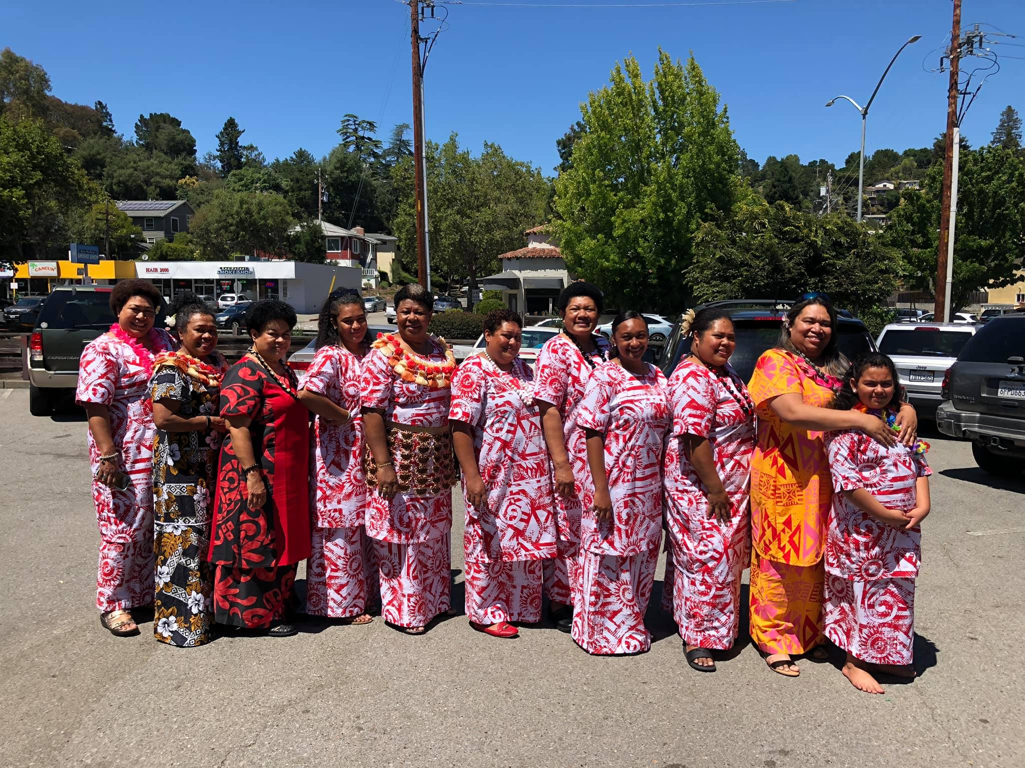 Fijian women of the San Rafael church at