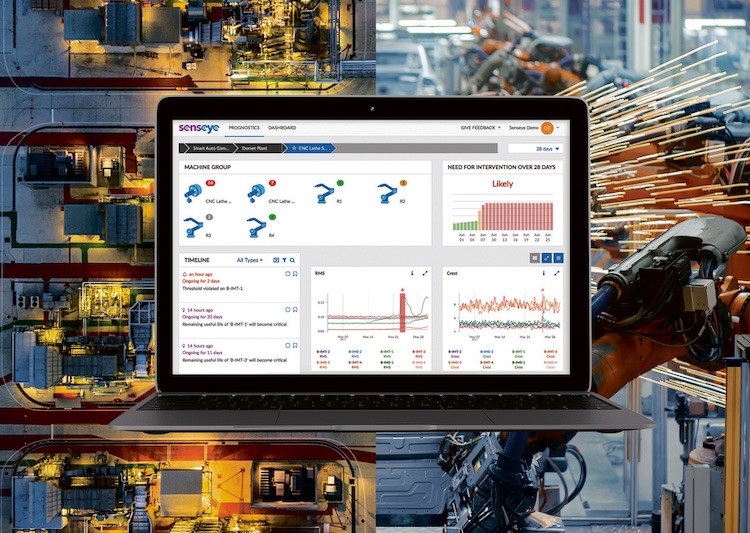 Senseye predictive maintenance software in factory