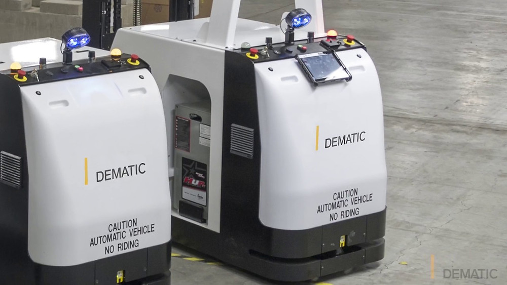 Dematic compact tugger AGVs
