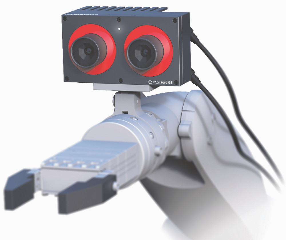Robot with 3D vision sensor attached