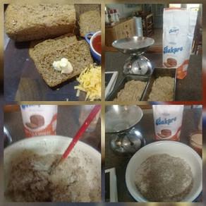 Freshly baked farm bread.