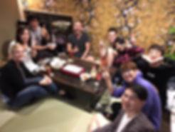 大阪ゲストハウス桜のたこ焼きパーティー