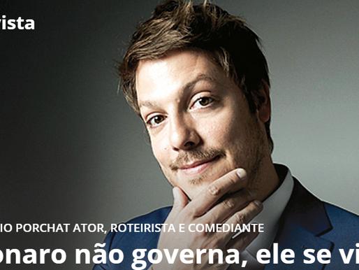 """Fábio Porchat: """"Bolsonaro não governa, ele se vinga"""""""