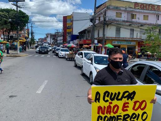 """Empresário """"Metem Marcha"""" no governador Rui Costa, Bahia,  e protestam contra fechamento do comércio"""