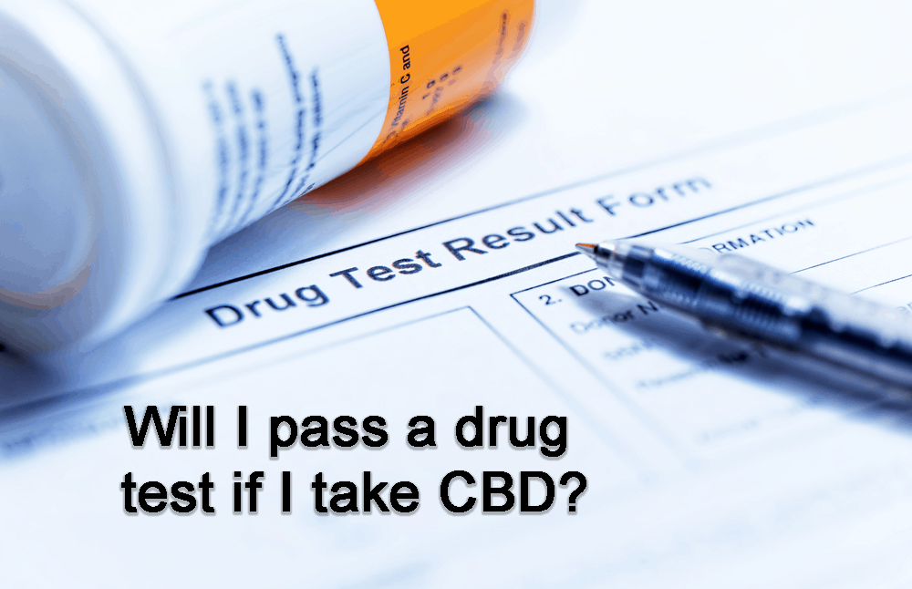 passing a drug test using CBD products.