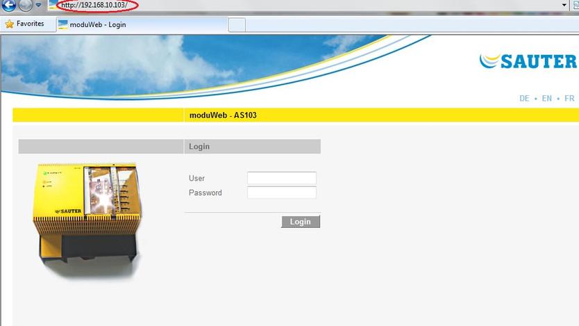 Moduweb login page