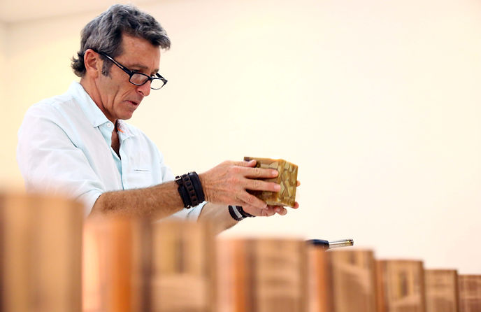 Gary Simmons candle maker
