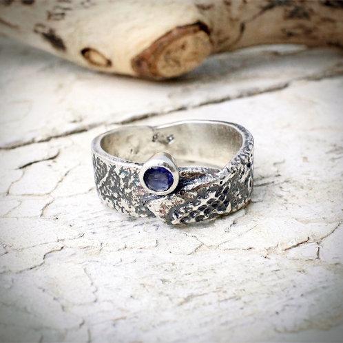 Iolite Textured ring