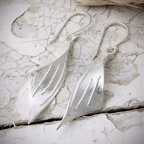 Tempest Earrings Linear Texture