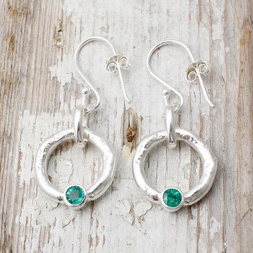 Emerald earrings Cornwall