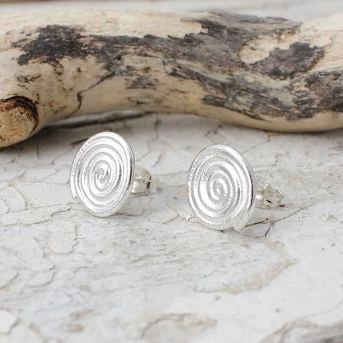 Silver spiral studs