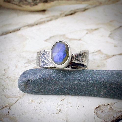 Textured Labradorite Ring