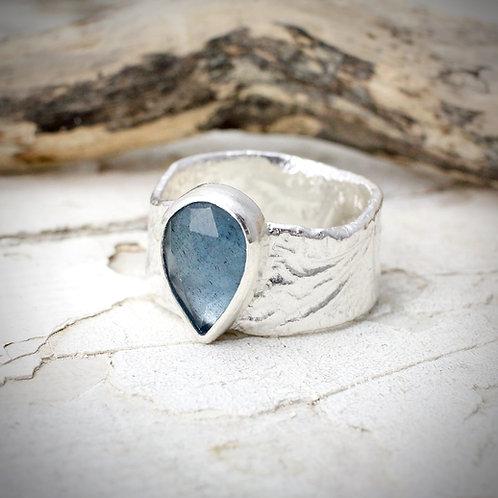 Fragment Ring With Aquamarine