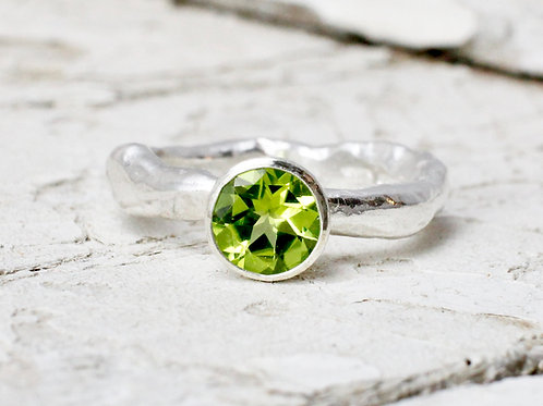 Handmade Peridot Ring