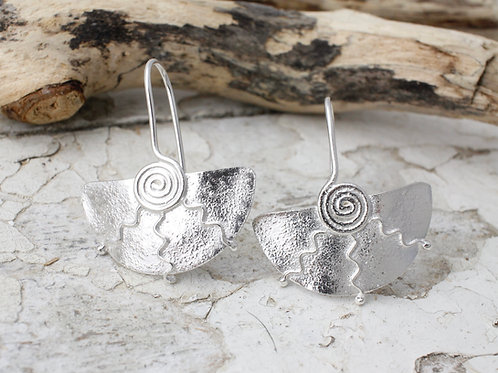 Swirly Fan Earrings