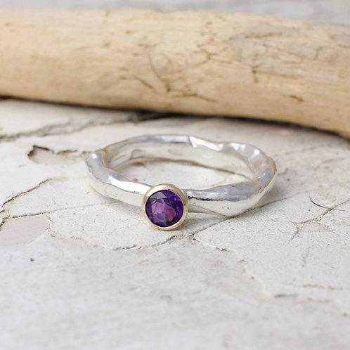 Rustic Amethyst Ring