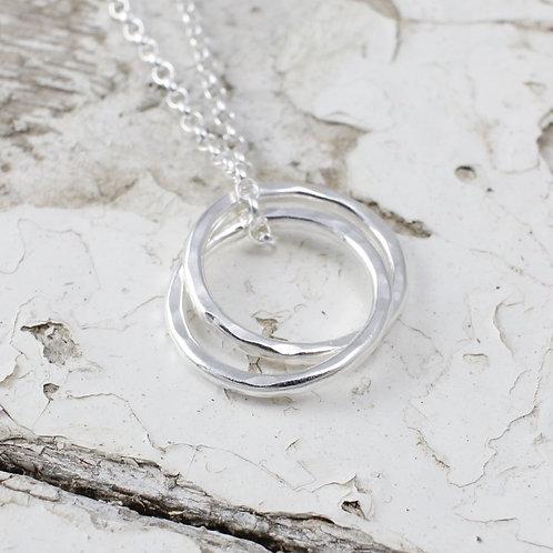 Two Interlocking Circles Necklace